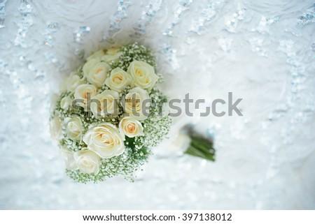 Wedding flower bouquet.Selective focus. - stock photo