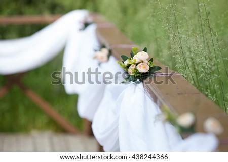 wedding flower decorations - stock photo