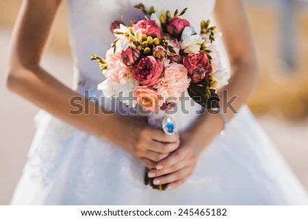 Wedding flowers bouquet - stock photo