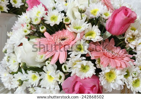 Wedding flowers using with a fresh flowers chrysanthemum