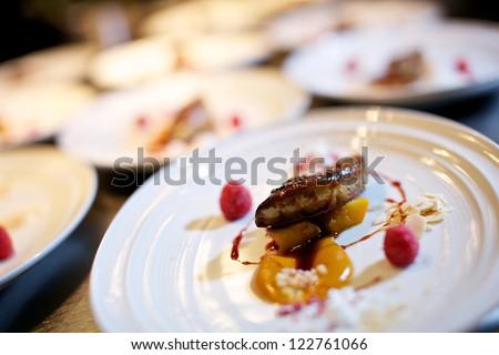 wedding food - stock photo