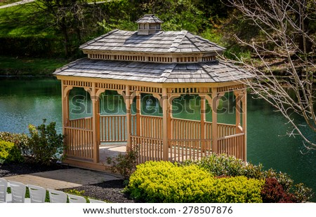 Wedding Gazebo - stock photo