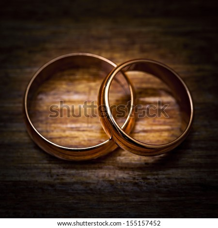Wedding gold ring - stock photo