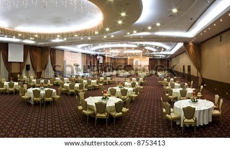 wedding hall - stock photo