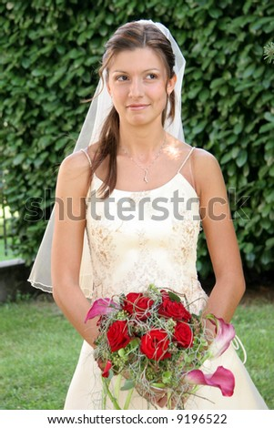 wedding: happy young bride