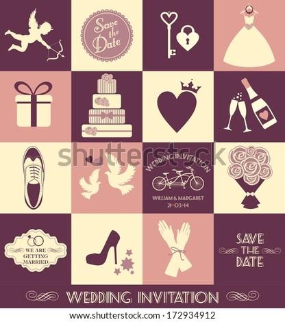Wedding illustration - stock photo