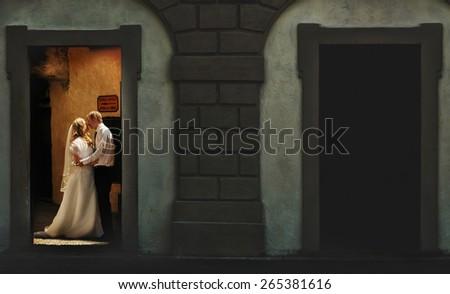 wedding in Stresa, Italy, Isola Bella, Lago Maggiore  - stock photo