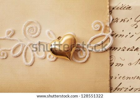 wedding invitation - stock photo