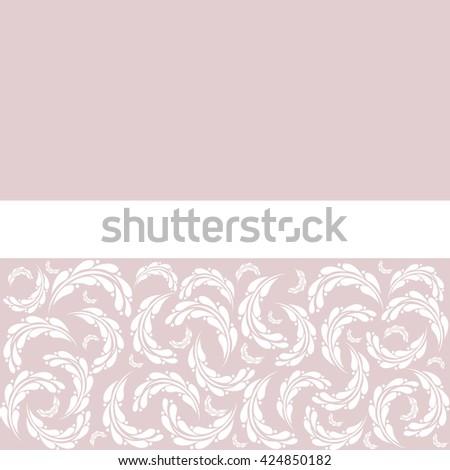 Wedding invitation or greeting card design, ornamental illustration - stock photo