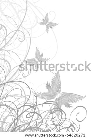 wedding invitation with floral patterns