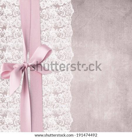 Wedding lace background - stock photo