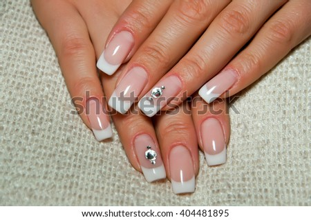 Wedding Nails Crystals Stock Photo (Royalty Free) 404481895 ...