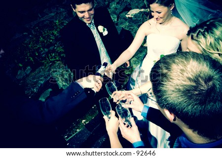Wedding party - stock photo