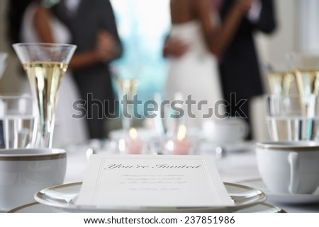 Wedding Party Dancing at Reception - stock photo