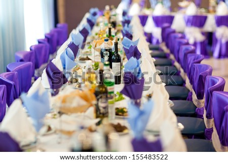 Wedding reception. Restaurant. - stock photo