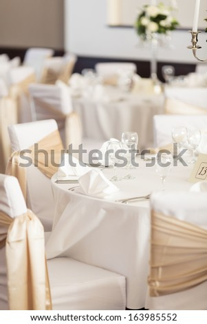 Wedding restaurant - stock photo