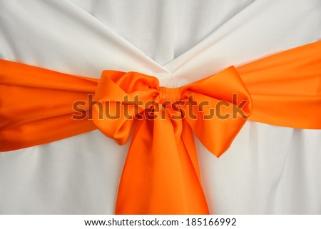 Wedding ribbon decoration - stock photo
