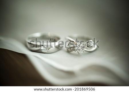 Wedding ring. - stock photo