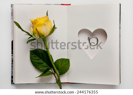 Wedding Ring Book Holder Stock Photo Royalty Free 244176355