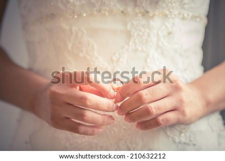 Wedding ring bearer - stock photo