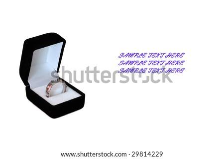 wedding ring isolated on white - stock photo