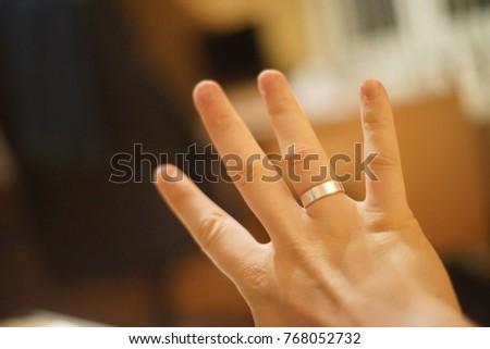 Wedding Ring On Ring Finger