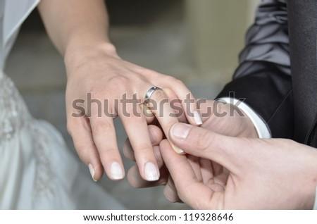 Wedding Ring - Wedding Vows - stock photo