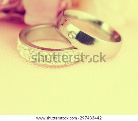 Wedding rings. - stock photo