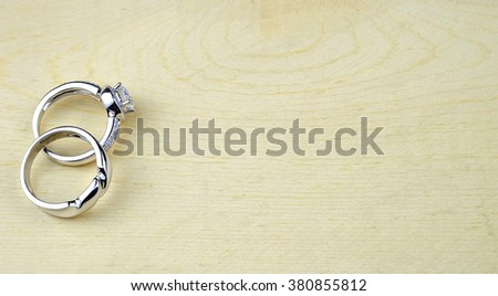 wedding rings - stock photo