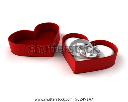 Wedding rings abstract - stock photo