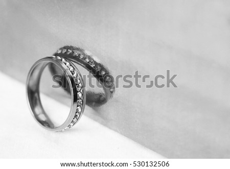 Wedding rings and reflection