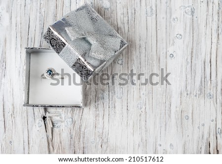 Wedding rings in a gift box - stock photo
