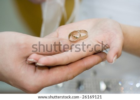 wedding rings on his hands