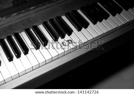 Wedding rings on the piano keys