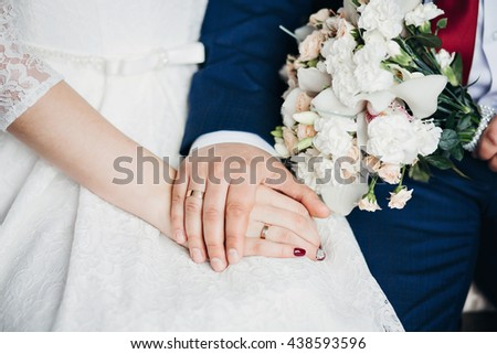 Wedding rings. Wedding symbols, attributes Holiday celebration - stock photo