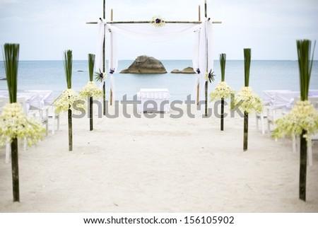 Wedding set up - stock photo