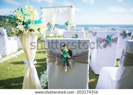Wedding setting - stock photo
