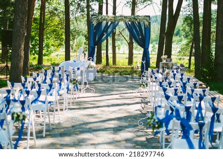 wedding settings - stock photo