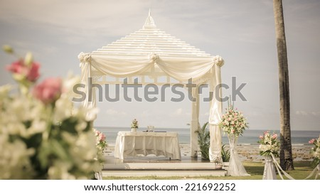 Wedding setup - stock photo