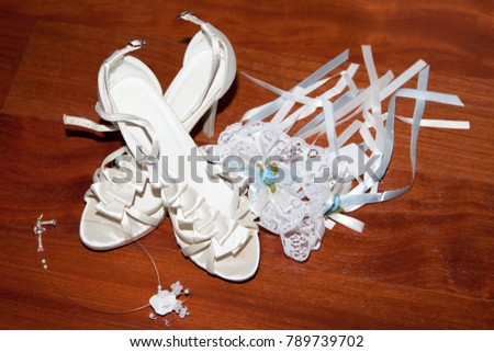 Wedding shoes bridal accessories female decoration stock photo wedding shoes bridal accessories female decoration for girl details for marriage and for married junglespirit Image collections