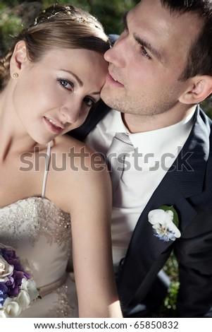 wedding shot of bride - stock photo