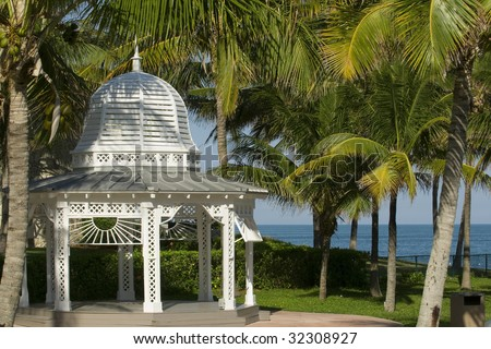 Wedding site in the bahamas - stock photo
