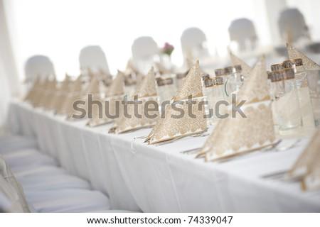 wedding table decoration - stock photo