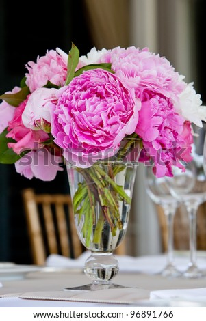 Wedding Table Decoration - Series - stock photo