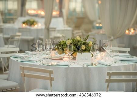 Wedding table elegant style  - stock photo