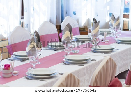 wedding table for a welcome guest