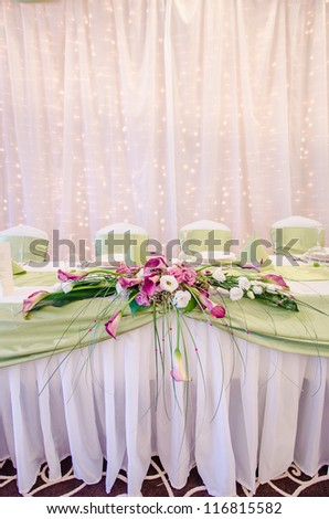 Wedding Table set - stock photo