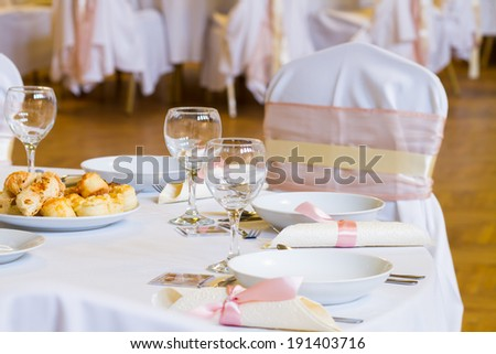 wedding table with decoration