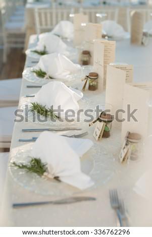 wedding talbe - stock photo