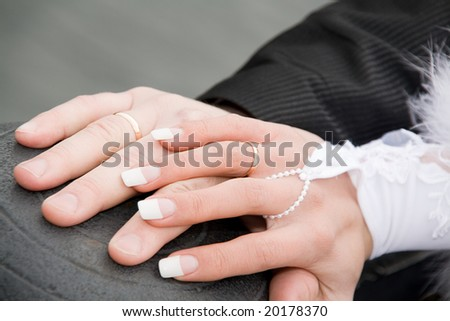 wedding touching love hands
